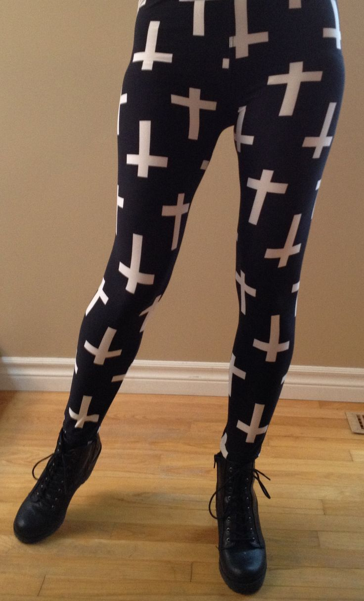 """""""Cross Over"""".....into a bold black & white legging. """"Walk in....Stand out!""""  """"One Size"""" – Fits most 2-12, 5′-6′ tall"""