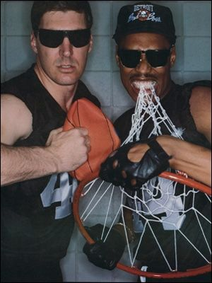 Bill Laimbeer and Rick Mahorn  Bad Boys,Detroit Pistons