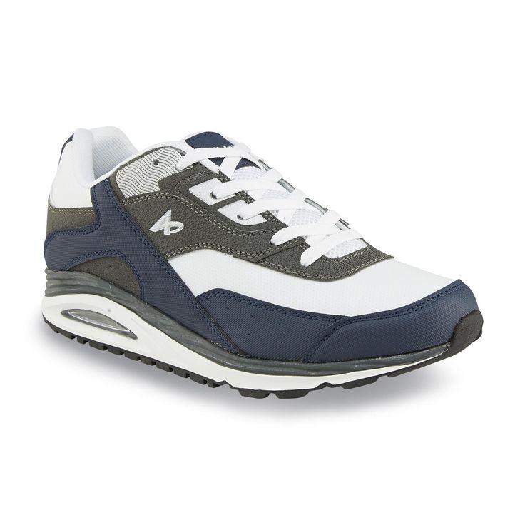 Athletech Men's Bobby White/Navy/Gray Athletic Shoe