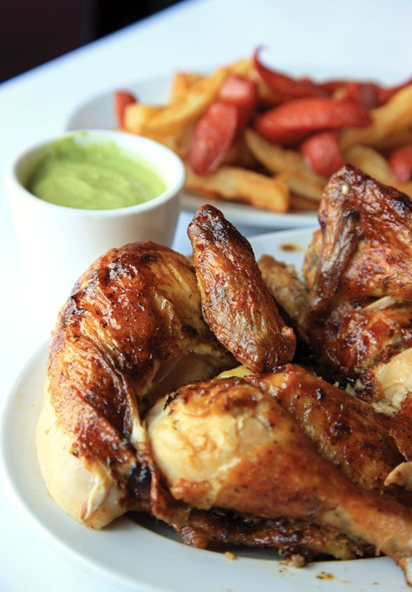 Peruvian Chicken Recipe (This Peruvian chicken recipe is for pollo a la brasa or Peruvian-style marinated roast chicken. Now you no longer have to wait in line to get it take-out.)
