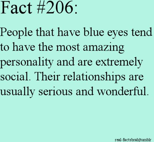 Well.... tho my eyes are blue this doesn't appear to ring true for me...
