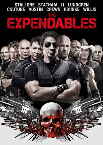 The Expendables (2010) R -  Stars: Sylvester Stallone, Jason Statham, Jet Li.  -  A CIA operative hires a team of mercenaries to eliminate a Latin dictator and a renegade CIA agent. -  ACTION / ADENTURE / THRILLER