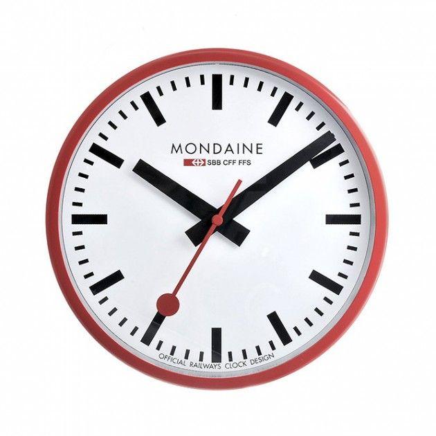 swiss railway wall clocks by mondaine