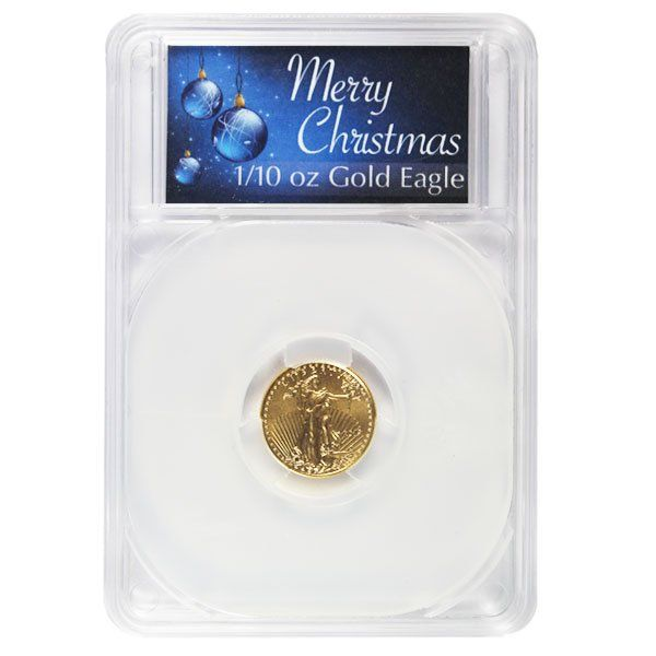 1 10th Oz Gold American Eagle In Merry Christmas Capsule Money Metals Gold American Eagle Coin Design American Eagle