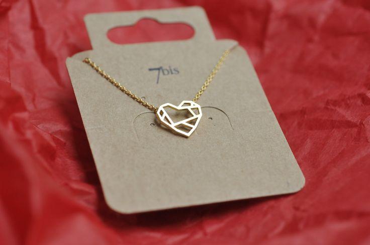 coeur collier géometrique doré 7bis