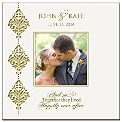 """Personalized Wedding or Anniversary Photo Album and so Together They Lived Happily Ever After """" Holds 200 4x6 Photos"""