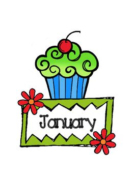 A collection of birthday month labels with a cupcake design! Perfect for your classroom birthday chart! Thank you! Enjoy! :)
