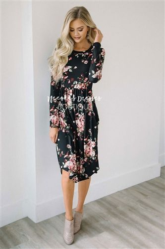 d1558b8404 chic spring style fashion lookbook pink dress floral fleur flora flower  print. The Melody is the perfect fall ...