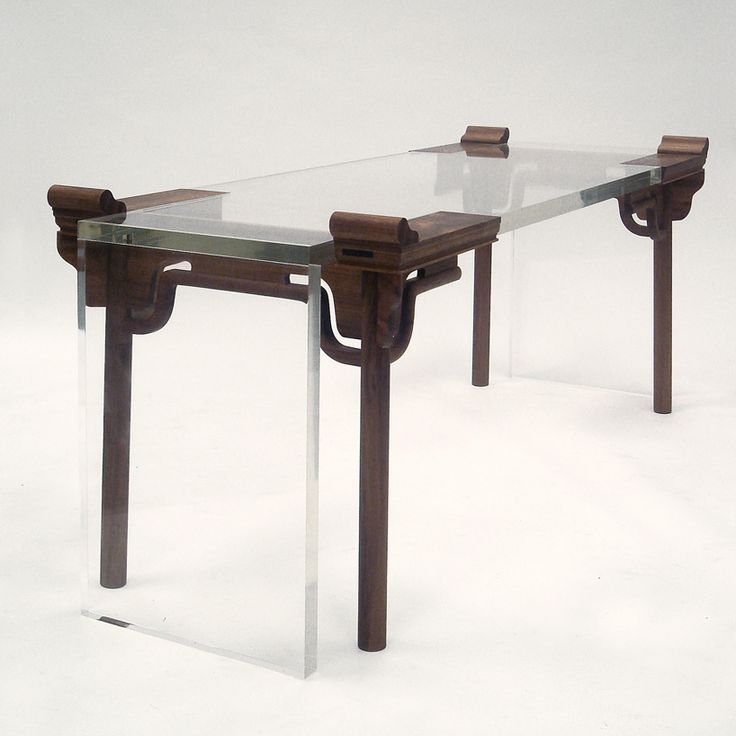 shao fan: contemporary chinese furniture  work no. 4 of year 2005'  acrylic, catalpa  image courtesy of shao fan