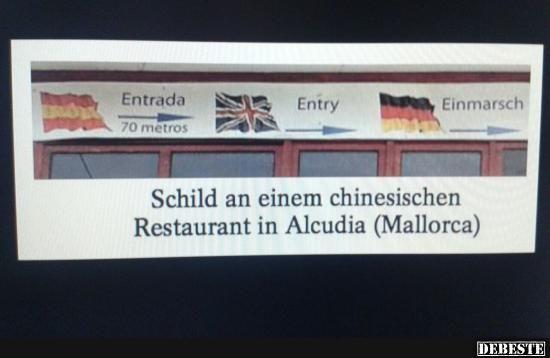 Chinesisches Restaurant in Mallorca.. | Lustige Bilder, Sprüche, Witze, echt lustig