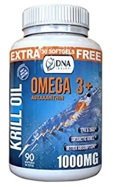 DNA Shift® 1000mg Krill Oil Omega 3 Supplement with 3 mg Astaxanthin