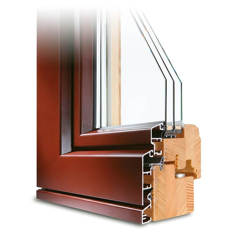 Holz-Alu Balkontür IDEALU 78 Profildecke