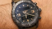 Hands-on review and photos of the masculine and superbly detailed Breitling Colt Chronograph Automatic watch.