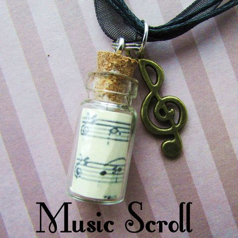 Music scroll necklace