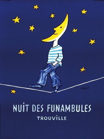 1980s Original French Poster, Nuit Des Funambules - Savignac