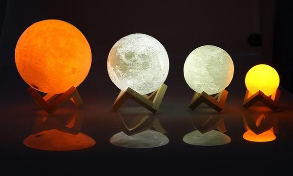 Rechargeable Led Night Light Moon Lamp 3d Print Moonlight Luna 2 Color Ecenturydeals Com Moon Light Lamp Lamp Night Light