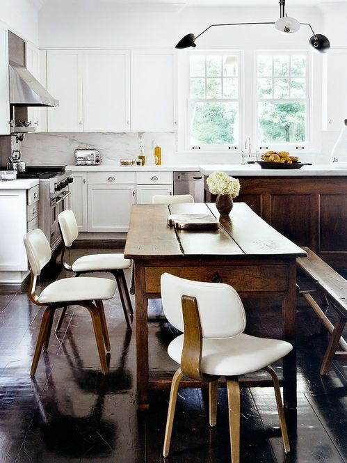 white + wood modern rustic kitchen
