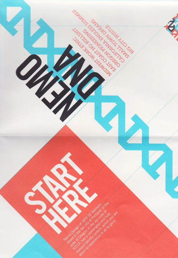 Folded promo/style guide—front cover.