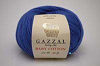 Турецкая пряжа Gazzal Baby Cotton ультрамарин №3421 GazBCot_3421