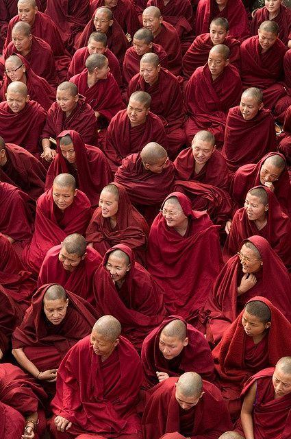 """Faces in the Crowd"" Kopan Monastery, Nepal"
