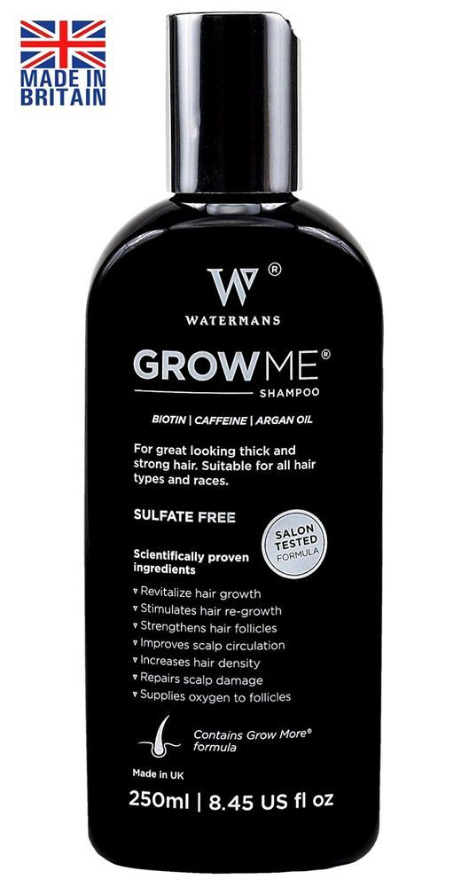 Best Hair Loss Shampoo Sulfate Free, Caffeine, Biotin, Argan Oil, Allantoin #WatermansGrowMe