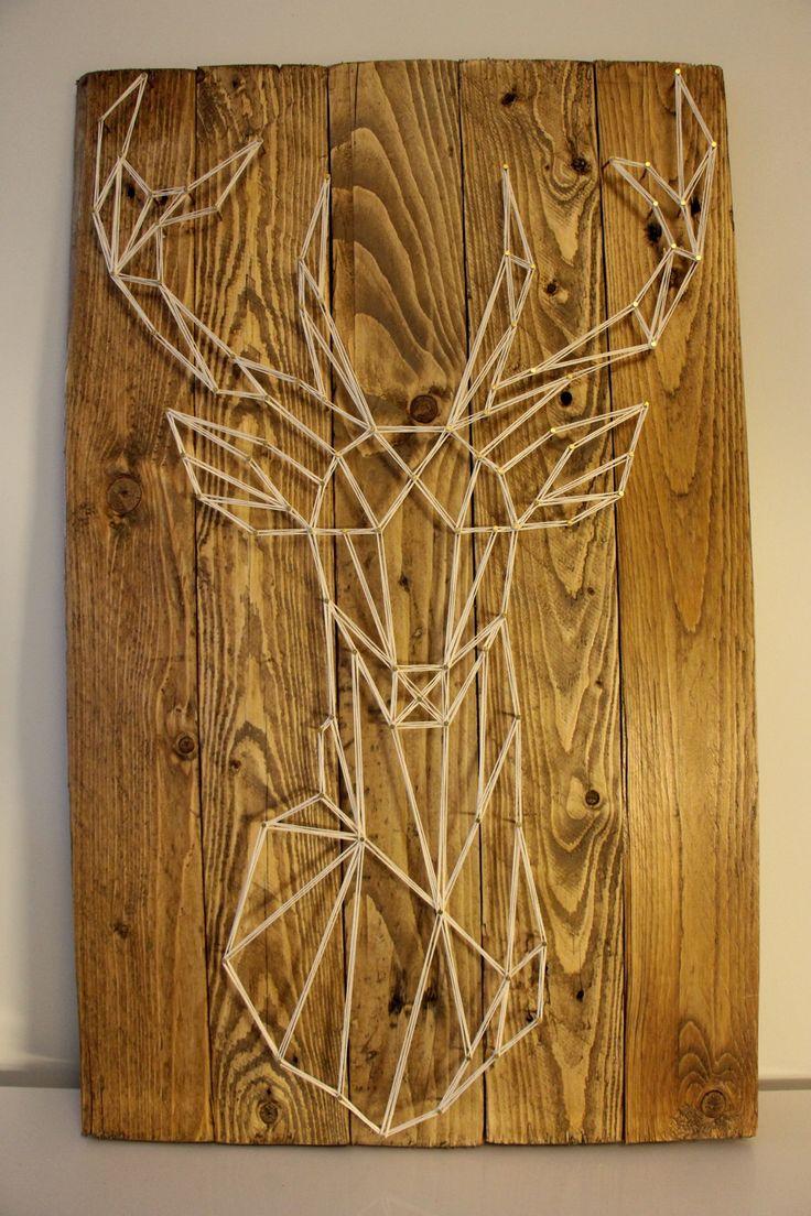 Tête de cerf string art : Décorations murales pa…