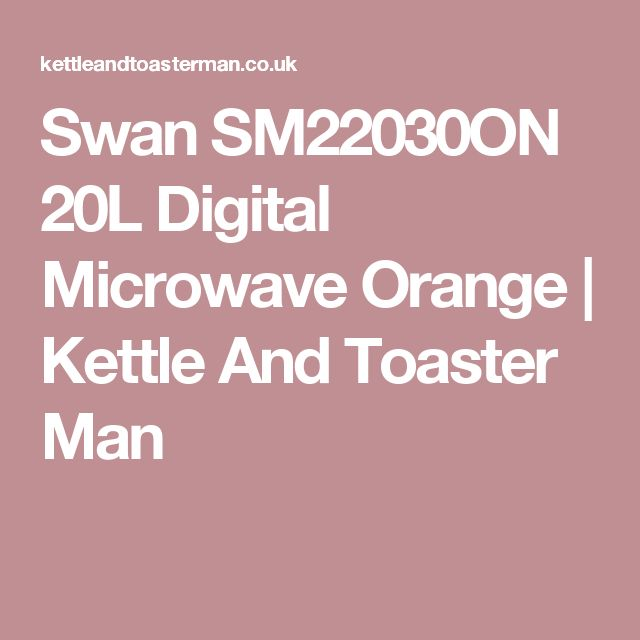 Swan SM22030ON 20L Digital Microwave Orange | Kettle And Toaster Man