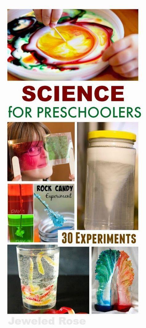 30 experimentos ciência divertida perfeito para preschoolers- Temos feito alguns…
