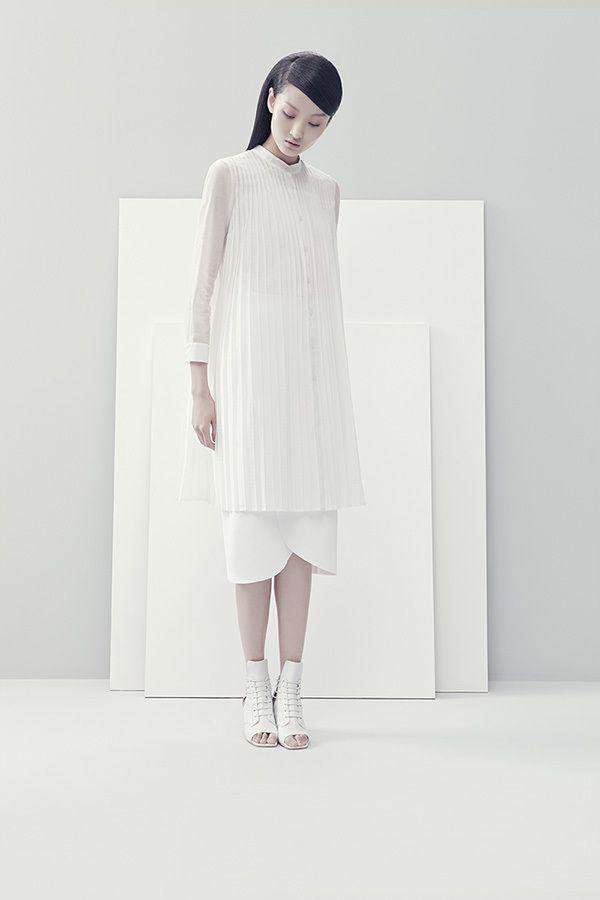 white pleat / #MIZUstyle