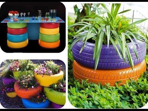 Recicla neumáticos y decora tu casa con estas ideas!