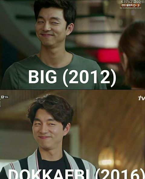 He get's us with that same smile all the time. Gong Yoo. Goblin - Haven't seen Big because of the bad reviews (not because of the acting, but poor development of the story and characters).