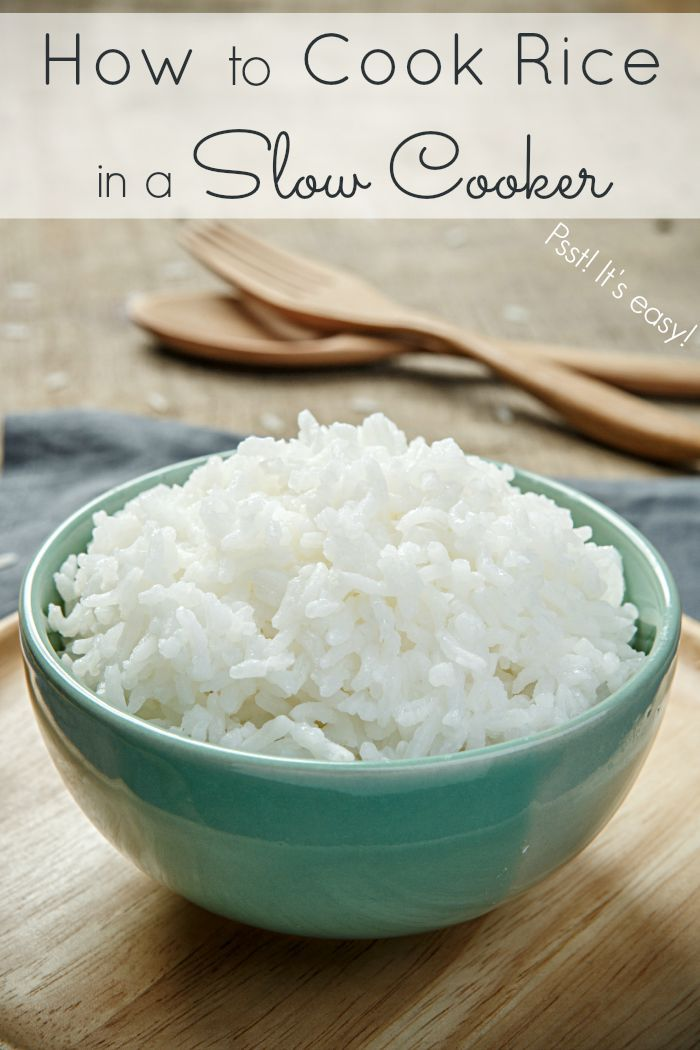 Did you know you can use your slow cooker to make a large batch of rice? Yes, you can! Make slow cooker rice and save time in the kitchen.