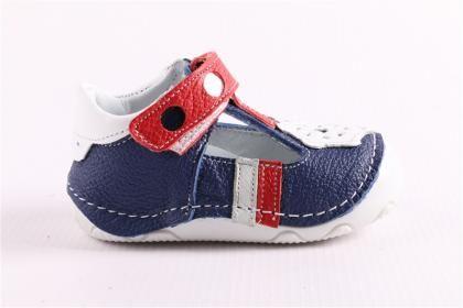 Pepee Erkek Çocuk Koyu Mavi Hakiki Deri Phaylon Taban Ortopedik İlk Adım Bebe Ayakkabı