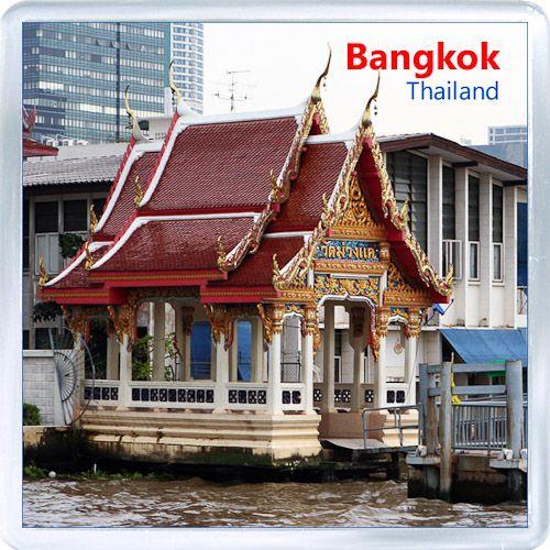 Acrylic Fridge Magnet: Thailand. Bangkok. City View