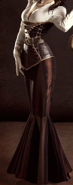 Brown Corset Dress I part my lips and hook him in. He tastes of vodka and tonic, lemons, sharp, zinging, and I fish for more, knowing my own breath echoes Southern Comfort, sweet and cloying...