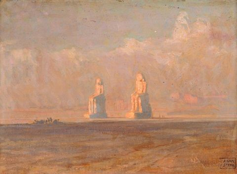 Adam Styka - The Memnon Colossi of Thebes