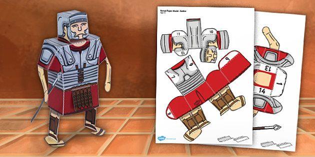 Ancient Rome Paper Model Soldier - paper model, roman, soldier