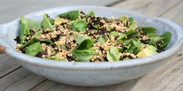 Who knew seaweed, seeds & salad could be so delicious & nutritious?  #healthyliving #nutrition #vegan #glutenfree #dairyfree #UnimedLiving