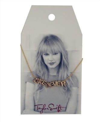 """It's so stupid, but I totally want it.  Taylor Swift Gold """"Like Ever"""" Necklace : Jewelry Line"""
