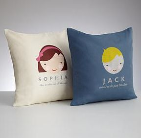 Personalized Kid Faces Throw Pillow