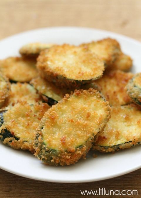 Fried Zucchini. Use almond flower instead of bread crumbs.