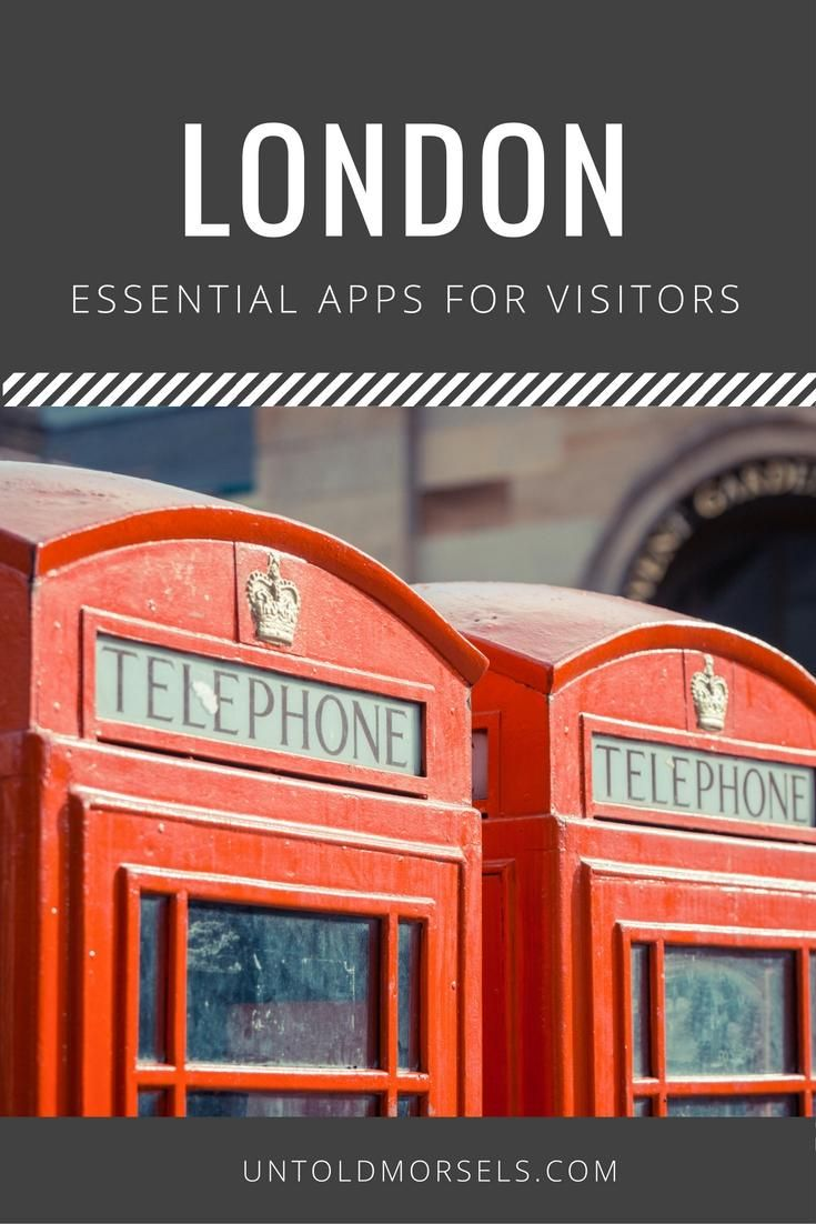 London apps - useful apps for visitors to London. Travel tips for London