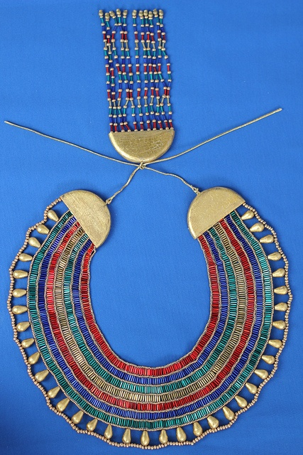 Ancient Egyptian Broad Collar New Kingdom, with Counterpoise by Petranef, via Flickr