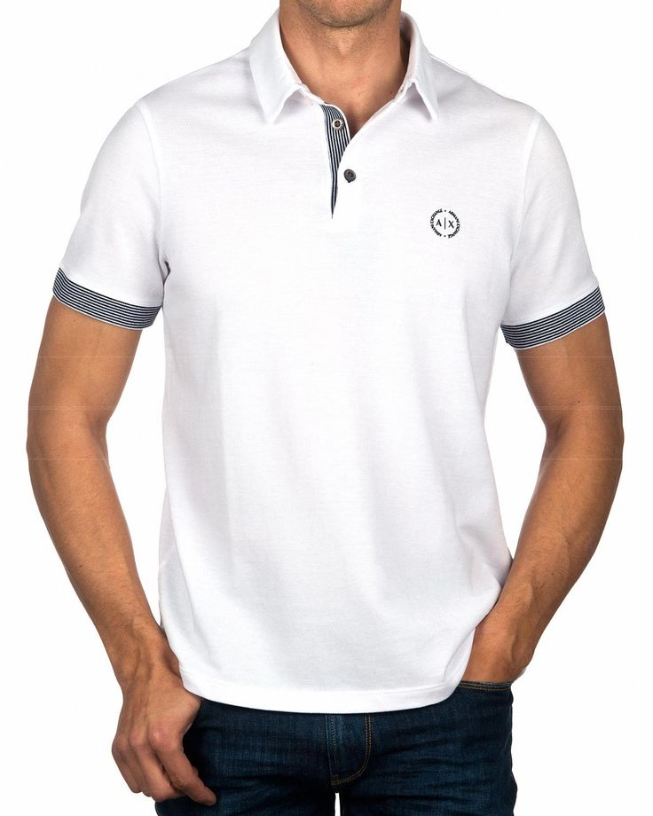 Polo ARMANI EXCHANGE ® Blanco| ENVÍO GRATIS