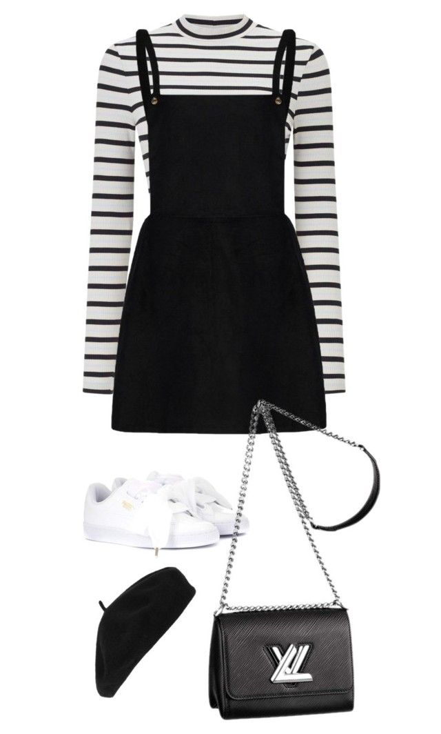 """""""Sem título #34"""" by cherrycokexx ❤ liked on Polyvore featuring Miss Selfridge, Puma, Accessorize and Louis Vuitton"""