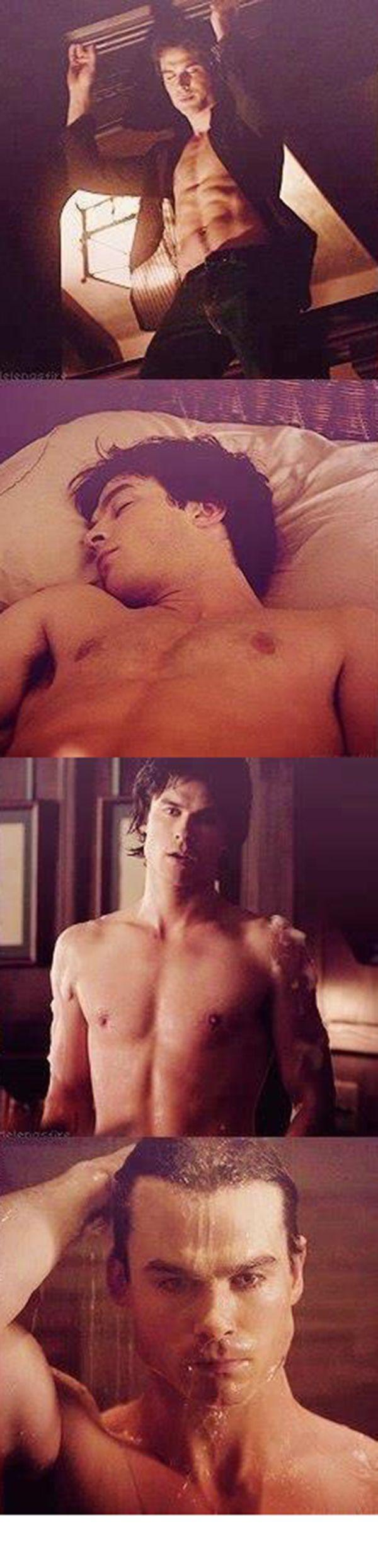Ian Somerhalder as Damon Salvatore in The Vampire Diaries