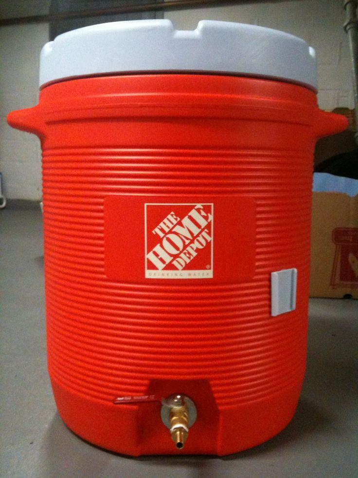 Building My 10 Gallon Mash Tun Cooler Home Brewing