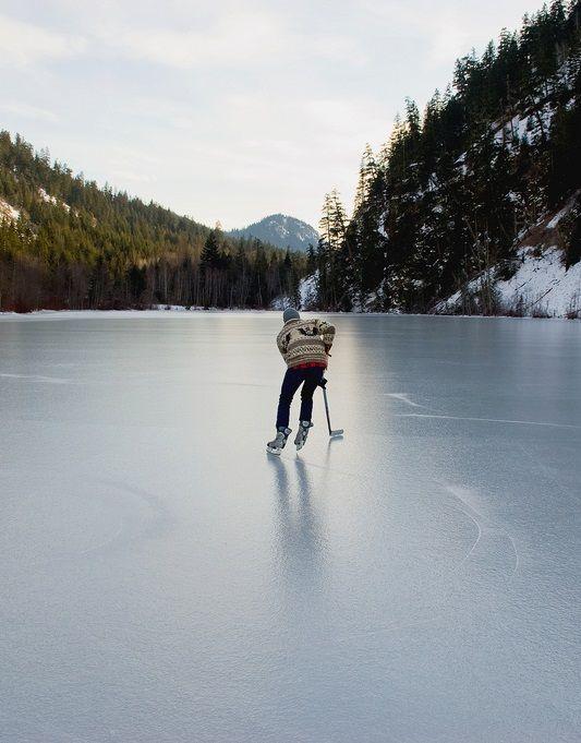 'Pond Hockey', Fraser Valley, British Columbia