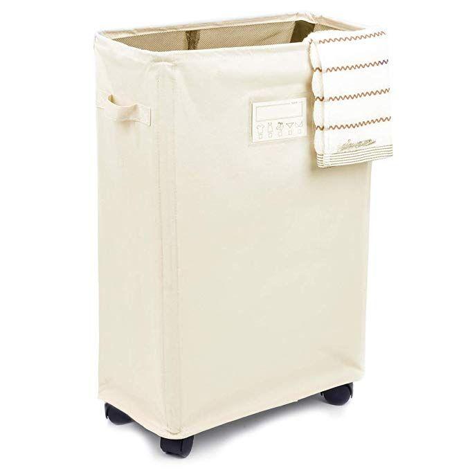 Amazon Com Caroeas Laundry Basket On Wheels Slim Laundry Hamper
