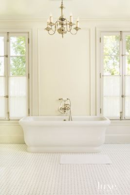 Contemporary Cream Master Bath